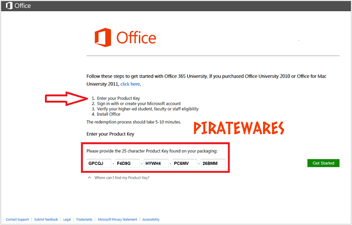 office 365 free product key