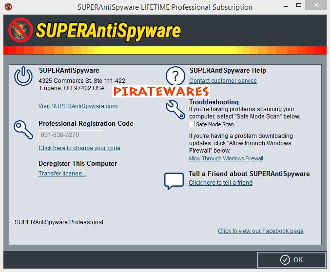 superantispyware registration code