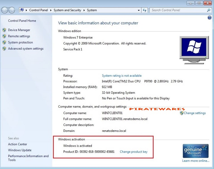 windows 7 activation without key