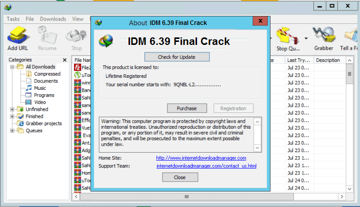 IDM 6.39 Final Crack With Serial Key Full Version Free Here